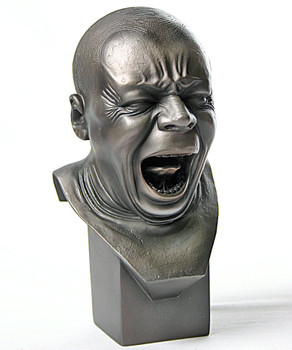 Miniature Yawner Man Portrait Bust Statue by Messerschmidt