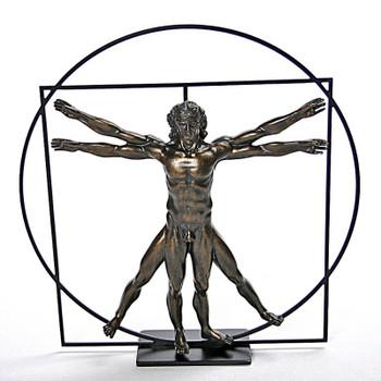 Bronze Vitruvian Universal Man by DaVinci