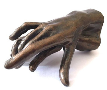 Small Two Hands Holding Statue by Auguste Rodin