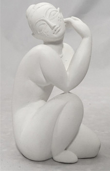 Miniature Female Nude Kneeling Statue by Modigliani