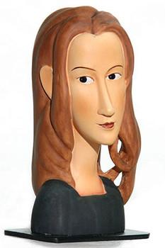 Modigliani Jeanne Hebuterne Face Statue (1918)