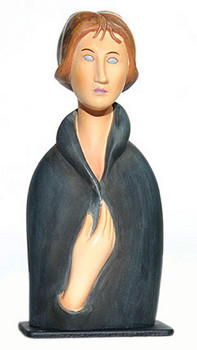 Modigliani Blue Eyed Woman Statue (1917)