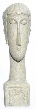 Abstract Female Head Statue (1913) by Modigliani