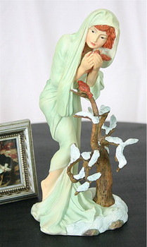 Winter Maiden Statue from Four Seasons by Mucha