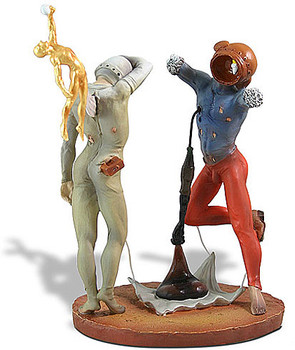 Poetry of America Cosmic Athletes Statue by Salvador Dali