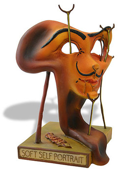 Self Portrait with Fried Bacon Surrealism Statue by Salvador Dali