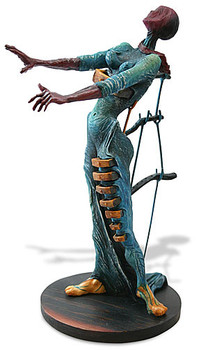 Burning Giraffe Woman with Drawers Statue by Salvador Dali