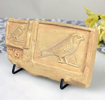 Swallow Bird Egyptian Wall Plaque with Stand