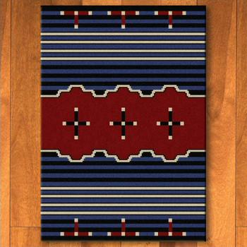 4' x 5' Big Chief 2 Blue Southwest Rectangle Rug