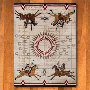 4' x 5' War Records Southwest Rectangle Rug