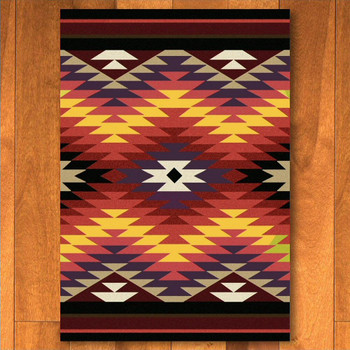 4' x 5' Starburst Bright Southwest Rectangle Rug
