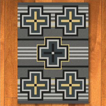 4' x 5' Bounty Gray Southwest Rectangle Rug