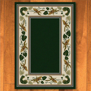 4' x 5' Three Sisters Emerald Cherokee Inspired Rectangle Rug