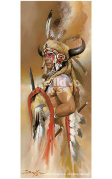 Look of War American Indian Artist Proof Art Print Wall Art