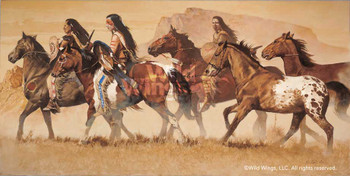 Return of the Stolen Ponies Native Americans Artist Proof Wall Art