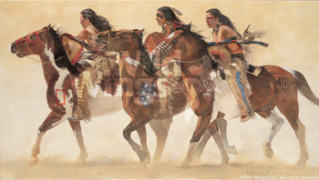 Heartbeats and Hoofbeats Sioux Indians Art Print Wall Art