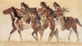 Heartbeats and Hoofbeats Sioux Indians Art Print Wall Art