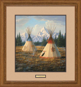 Cheyenne Village Teepees Framed Art Print Wall Art