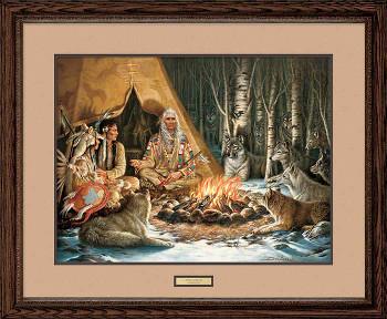 Spirit Seekers Native American Framed Art Print Wall Art