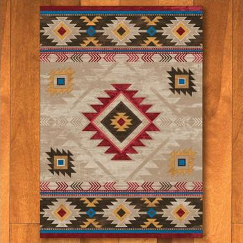 4' x 5' Whisky River Natural Southwest Rectangle Rug