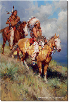 Return of Red Cloud Indians on Horses Wrapped Canvas Giclee Wall Art