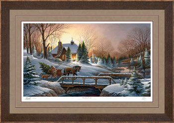 Limited Edition Heading Home Premium Framed Canvas Art Print Wall Art