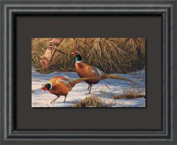 Heartland Heritage Pheasant Birds Float Mount Framed Art Print