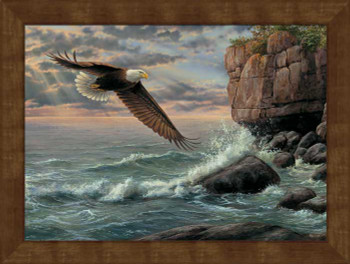 Large Shore Patrol Eagle Bird Framed Canvas Art Print Wall Art