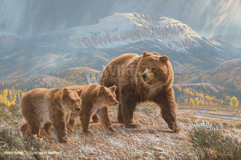 Under the Sleeping Giant Grizzlies Art Print Wall Art