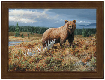 Bear and Pinecone Picture Frame Collage by Rosemary Millette Wild Wings 5373250075