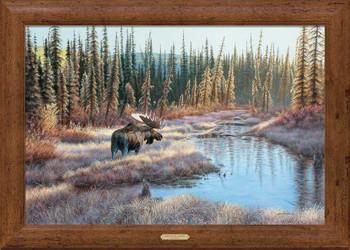 Lightscape Moose Framed Canvas Art Print Wall Art