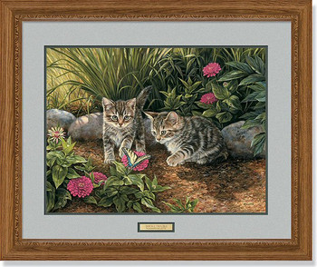 Double Trouble Kittens Framed Art Print Wall Art