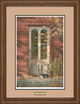 October Morning Sitting Cat Framed Art Print Wall Art