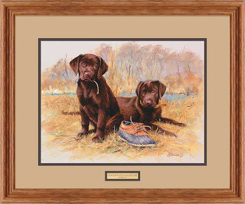 That's My Puppy Chocolate Labs Framed Art Print Wall Art