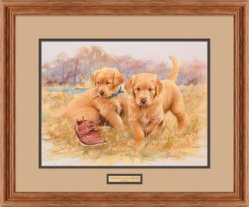 That's My Puppy Golden Retrievers Framed Art Print Wall Art