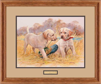 That's My Puppy Yellow Labs Framed Art Print Wall Art