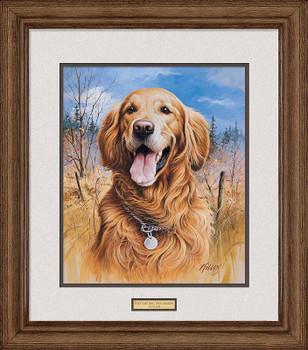 That's My Dog, Too! Golden Retriever Framed Art Print Wall Art