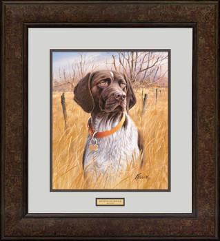 That's My Dog, Too! German Shorthair Pointer Framed Art Print Wall Art