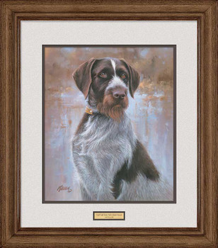 That's My Dog, Too! Drahthaar Dog Framed Art Print Wall Art