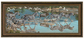 May You be in Kenya Before Zebras Framed Canvas Giclee Art Print