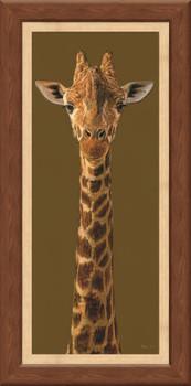 Tall Order Giraffe Framed Canvas Giclee Art Print Wall Art
