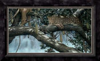 Night Falls Leopard Framed Canvas Giclee Art Print Wall Art