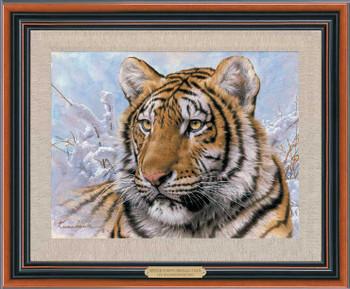 Siberian Tiger Framed Canvas Giclee Art Print Wall Art