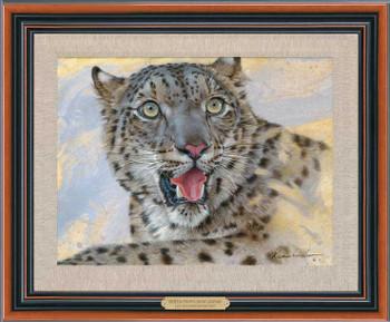 Snow Leopard Framed Canvas Giclee Art Print Wall Art