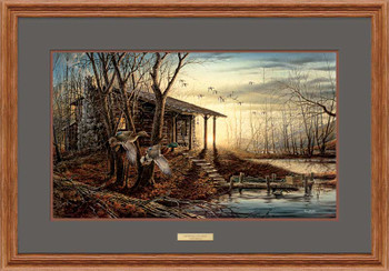 Morning Retreat Scenic Oak Framed Elite Art Print Wall Art