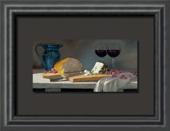 All About the Grapes Wine & Cheese Float Mount Framed Art Print