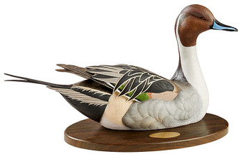 Personalized Swan Lake Pintail Duck Life-Size Hand Painted Sculpture