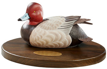 Personalized Redhead Duck Quarter Life-Size Hand Painted Sculpture