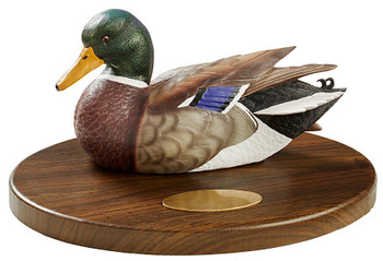 Personalized Mallard Duck Quarter Life-Size Hand Painted Sculpture