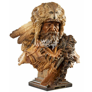 Legend Mountain Man Hand Painted Sculpture